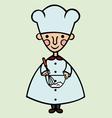 funny cook cartoon vector image vector image