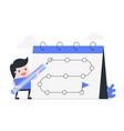 goal tracker habit tracker vector image