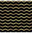 gold glittering zigzag wave background vector image