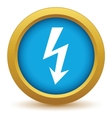 Gold lightning icon vector image vector image