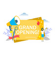 grand opening flat style design vector image