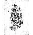 Hand drawing alphabet Grunge texture vector image