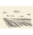 Hand drawn vacation poster seaside beach sketch