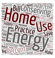 home energy ll 1 text background wordcloud concept vector image vector image