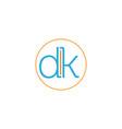 letter dk vector image