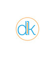 letter dk vector image vector image