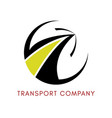 logo of the logistics company vector image vector image