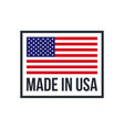 made in usa premium quality american flag icon vector image vector image
