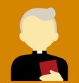 old religious pastor people graphic background vector image