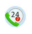 online call center handset support isolated on vector image vector image