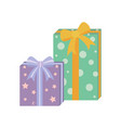 presents with wrapping poster vector image vector image