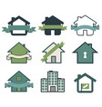 real estate symbol house logos vector image vector image