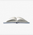 realistic open book book template with white vector image vector image