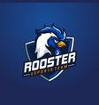 rooster mascot sport logo design vector image vector image