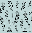 seamless pattern with black roses vector image vector image