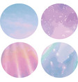 set of four isolated shiny texture circles vector image vector image