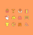set simple line icons volleyball vector image vector image