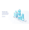 smart city with smart services internet things vector image vector image