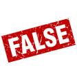 square grunge red false stamp vector image vector image