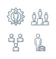 team work concept isolated icon vector image