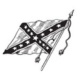 the confederate battle flag vintage vector image