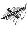 The confederate battle flag vintage vector image