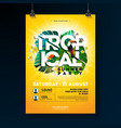 tropical summer party flyer design with vector image vector image