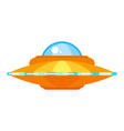 ufo ship icon for web vector image vector image
