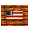united stated flag vector image vector image