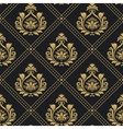 Victorian regal pattern seamless baroque vector image