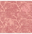 Vintage pink seamless pattern with magnolia vector image vector image