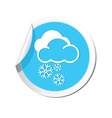 Weather forecast clouds with snowflakes icon vector image