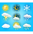 wheather symbols vector image vector image
