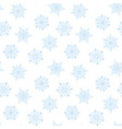 white background with blue snowflakes vector image vector image