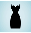 woman dress design vector image