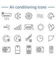 simple set of air conditioning icons for vector image