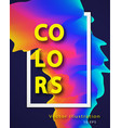 abstract colorful background with liquid vector image vector image