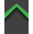 abstract green arrow direction overlap on grey vector image vector image
