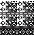 african tribal kente monochrome cloth style vector image