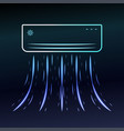 air conditioner blows ice cool air vector image