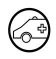 ambulance symbol vector image vector image
