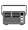 analog radio icon simple style vector image vector image