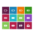 Battery icons on color background vector image vector image