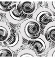 black and white spirals greek seamless pattern vector image vector image