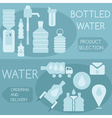 bottled water flat design horizontal banners vector image vector image