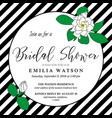 bridal shower invitation card template with hand vector image vector image