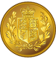 British money gold coin Sovereign with the vector image vector image