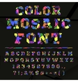 Broken colored alphabet on a dark background vector image