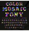 Broken colored alphabet on a dark background vector image vector image