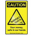 Budget cuts hazard Sign vector image vector image